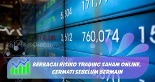 Berbagai Risiko Trading Saham Online, Cermati Sebelum Bermain