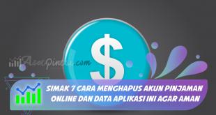 cara menghapus akun pinjaman online